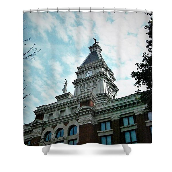 Clarksville Tn Courthouse Shower Curtain