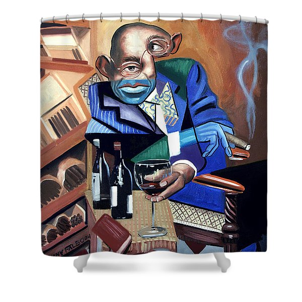 Shower Curtain featuring the painting Class Act by Anthony Falbo