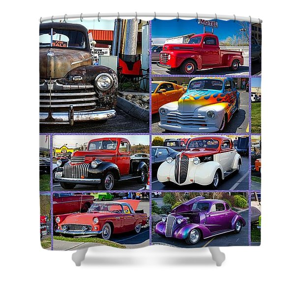 Shower Curtain featuring the photograph Classic Cars by Robert L Jackson