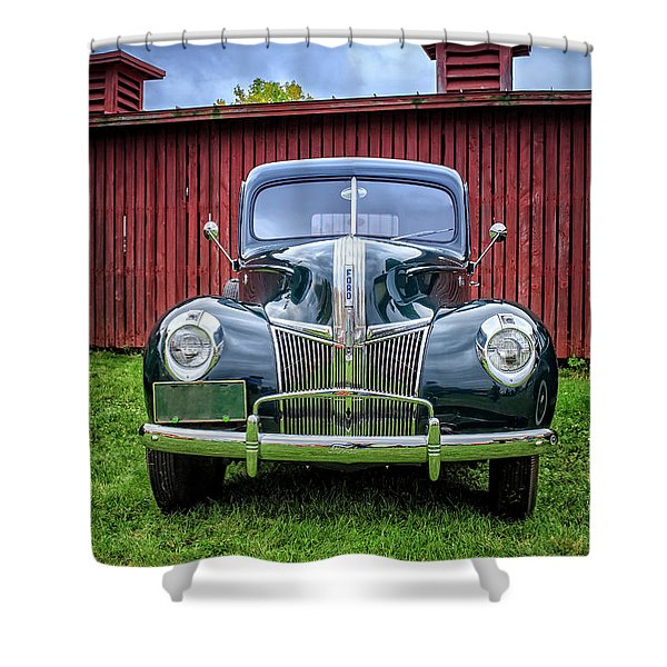 Classic Ford Canterbury Shaker Village Shower Curtain