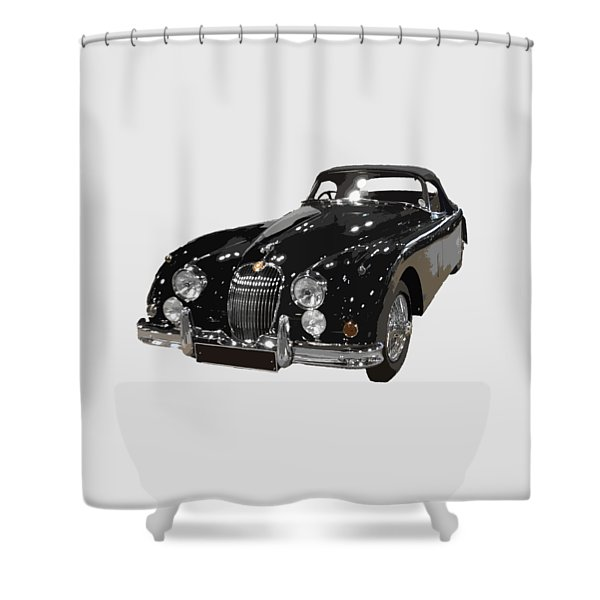 Classic Jaguar In Black Art Shower Curtain