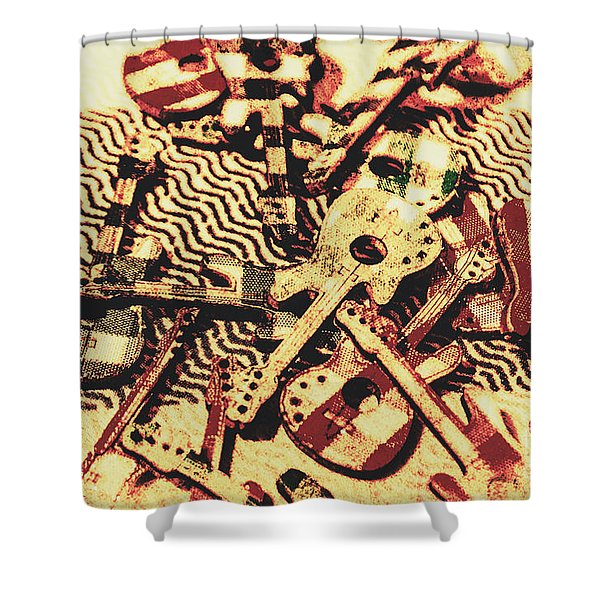 Classic Rock And Roll Art Shower Curtain