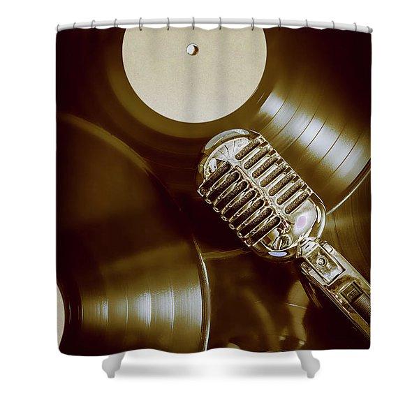 Classic Rock N Roll Shower Curtain