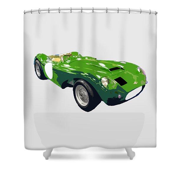 Classic Sports Green Art Shower Curtain