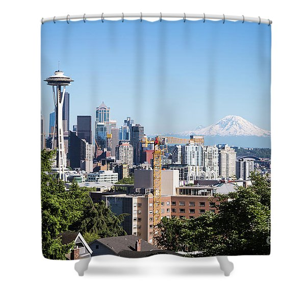 Classic View Of Seattle, Usa Shower Curtain