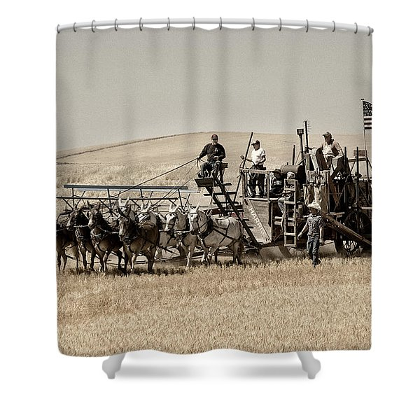 Shower Curtain featuring the photograph Classic Vintage Harvest by Mary Jo Allen