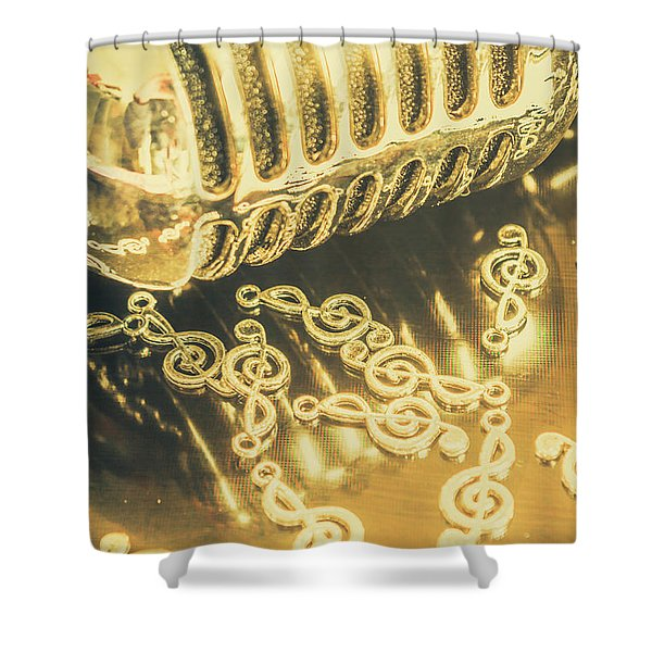 Classical Golden Oldies Shower Curtain