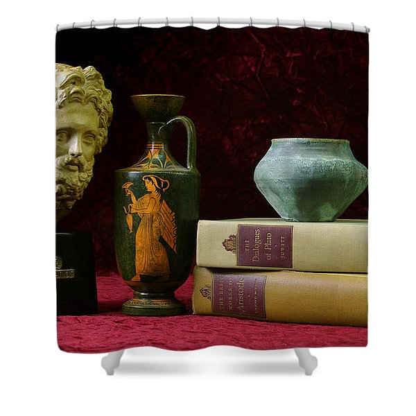 Classical Greece Shower Curtain
