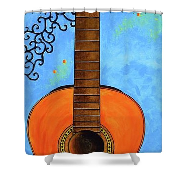 Shower Curtain featuring the painting Classical Music by Mary Scott