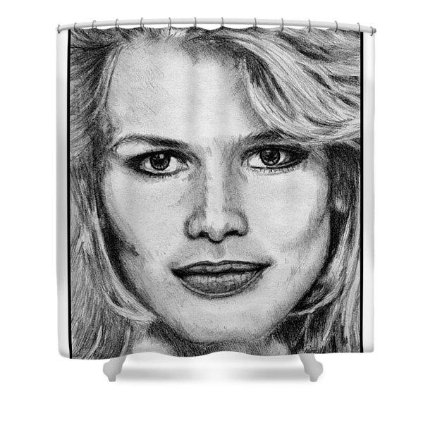 Claudia Schiffer In 1992 Shower Curtain