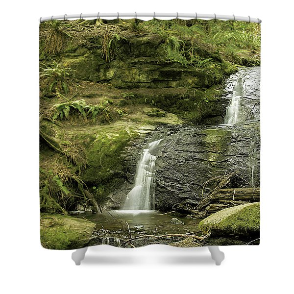 Clayton Beach Falls Shower Curtain
