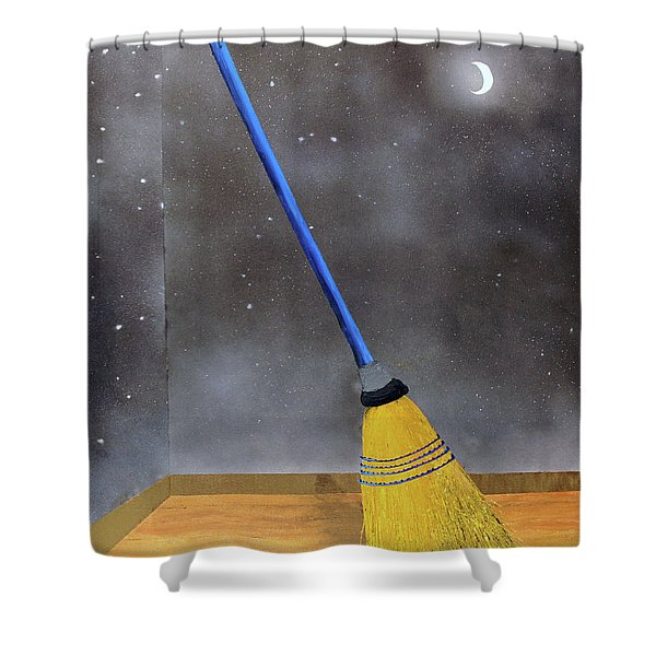 Cleaning Out The Universe Shower Curtain