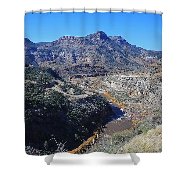 Clear And Rugged Shower Curtain