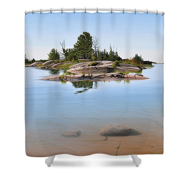 Clear Contentment Shower Curtain