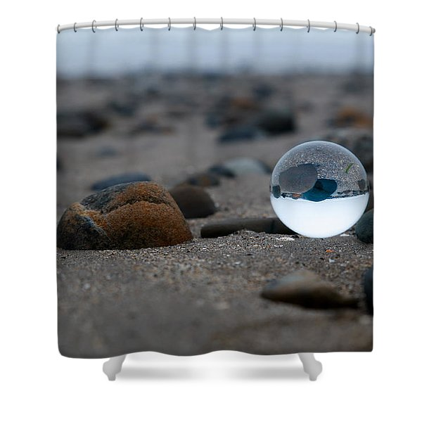 Clear Rock Shower Curtain