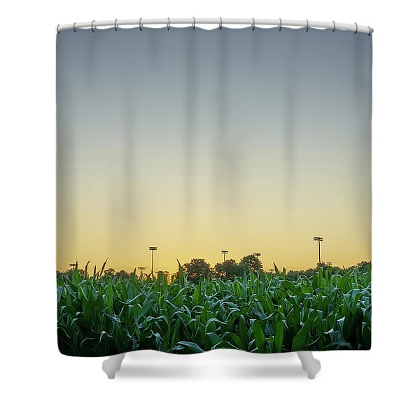 Clear Skies Sunset Shower Curtain