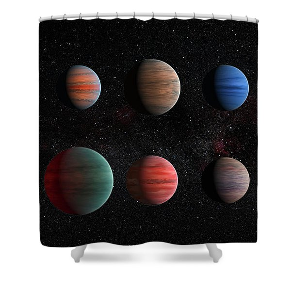 Clear To Cloudy Hot Jupiters Shower Curtain