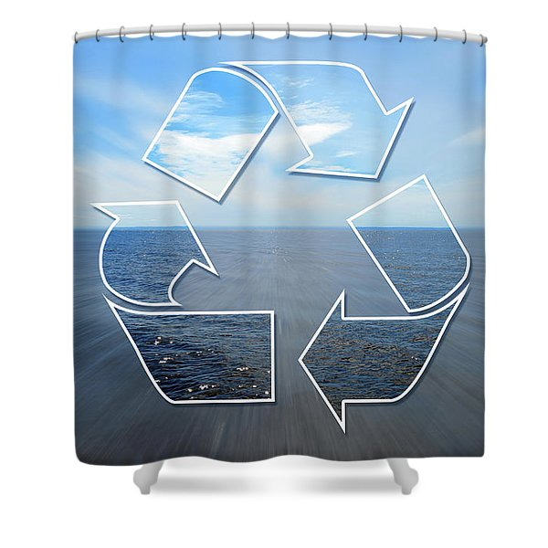 Clear Vision Of Nature Through A Recycling Sign Shower Curtain