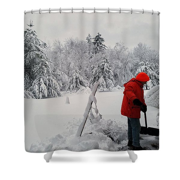 Clearing A Path Shower Curtain