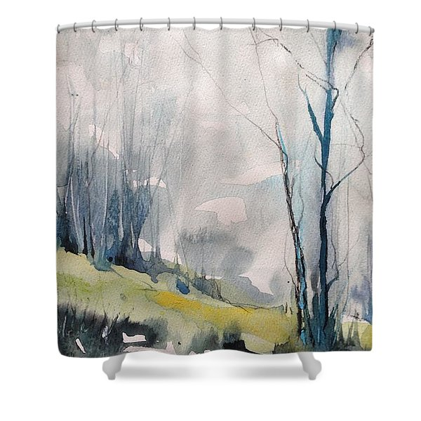 Clearing By The Riverbank Shower Curtain