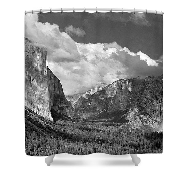 Clearing Skies Yosemite Valley Shower Curtain