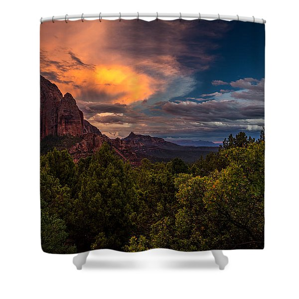 Clearing Storm Over Zion National Park Shower Curtain