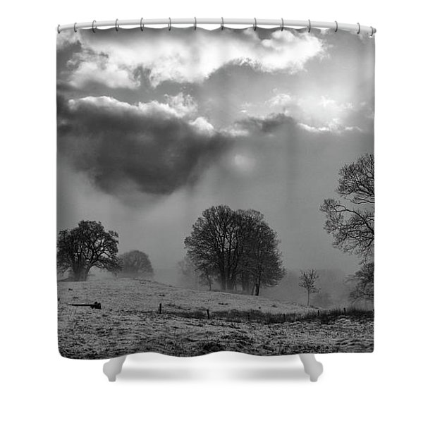 Clearing Winter Storm,loughrigg,lakedistrict Shower Curtain