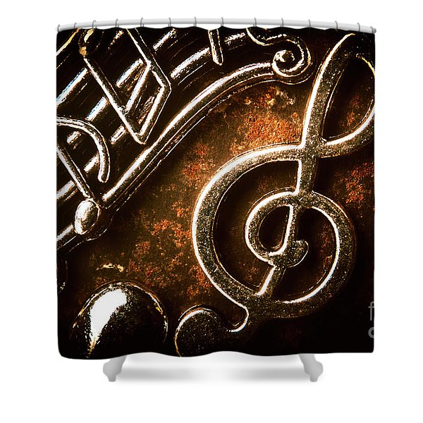 Clef Concert Shower Curtain