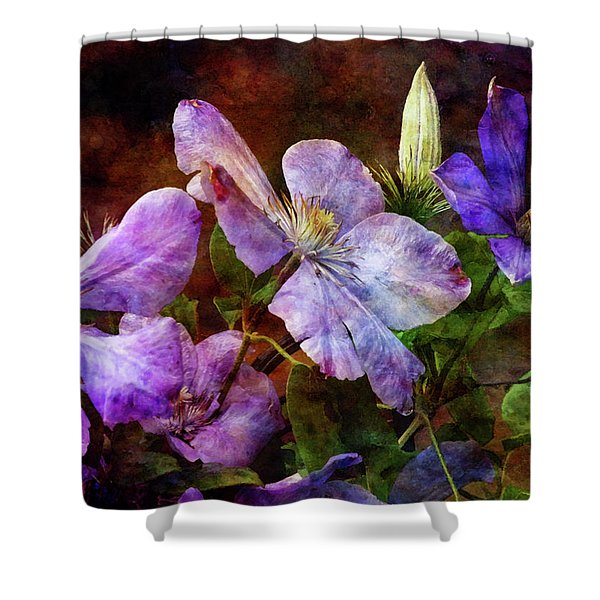 Clematis 1330 Idp_2 Shower Curtain