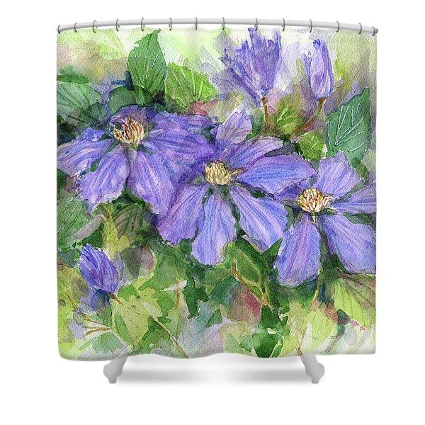 Clematis Shower Curtain