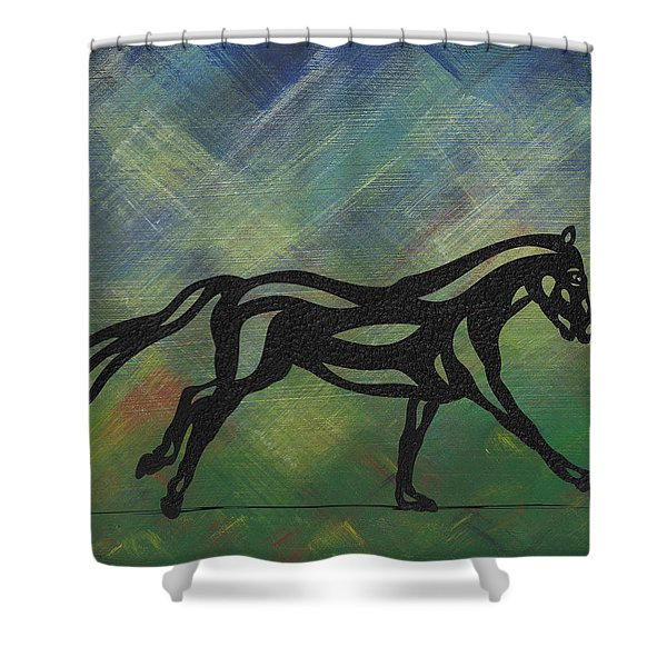 Clementine - Abstract Horse Shower Curtain