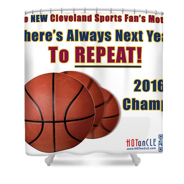Cleveland Basketball 2016 Champs New Motto Shower Curtain