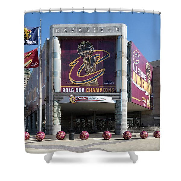 Cleveland Cavaliers The Q Shower Curtain