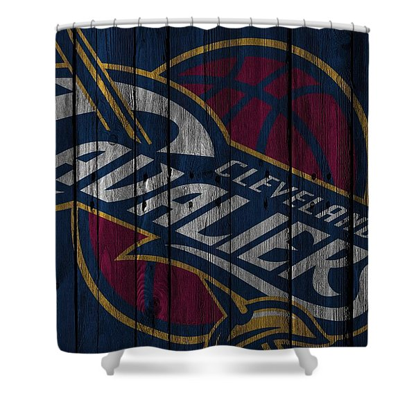 Cleveland Cavaliers Wood Fence Shower Curtain