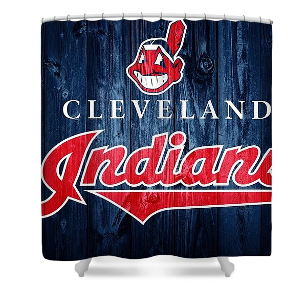 Cleveland Indians Barn Door Shower Curtain