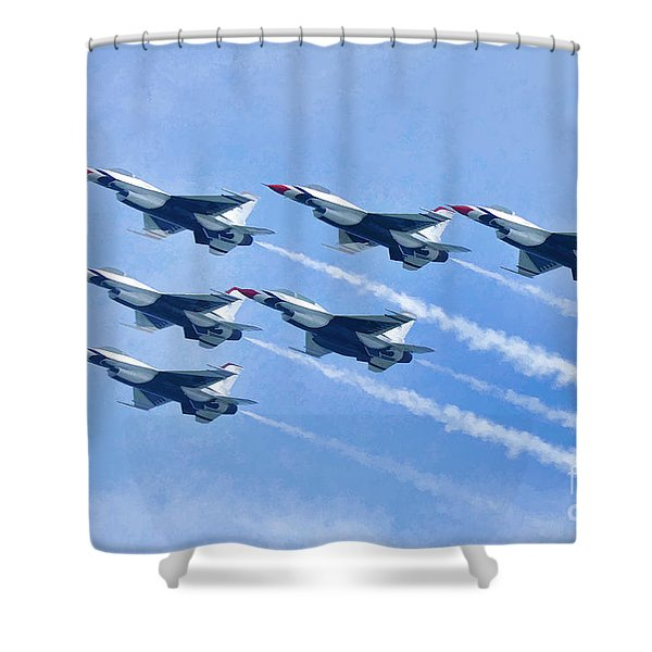 Cleveland National Air Show - Air Force Thunderbirds - 1 Shower Curtain