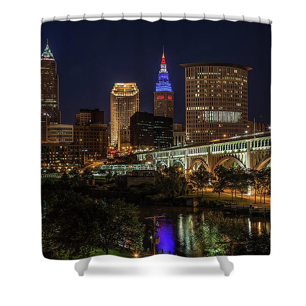 Cleveland Nightscape Shower Curtain