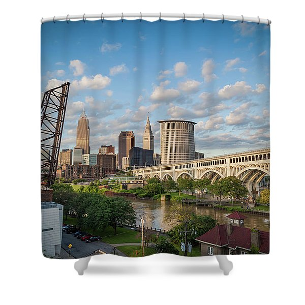 Cleveland Skyline Vista Shower Curtain