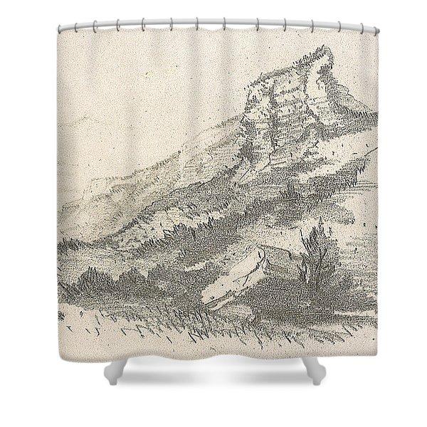 Cliff At Sainte Adresse Shower Curtain