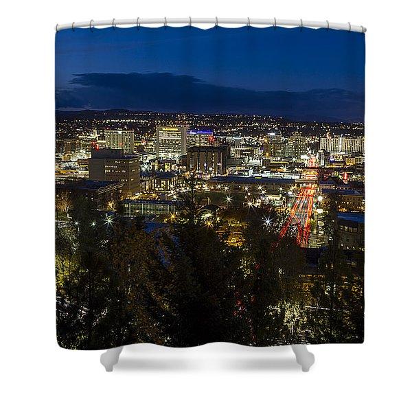Cliff Drive Rush Hour - Spokane  Shower Curtain