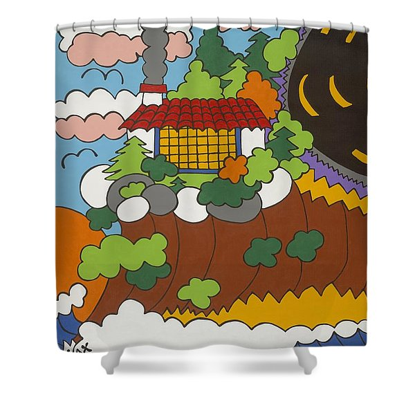 Cliff House Over Ocean Shower Curtain