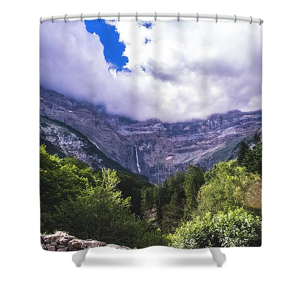 Cliff Over The Trees Shower Curtain