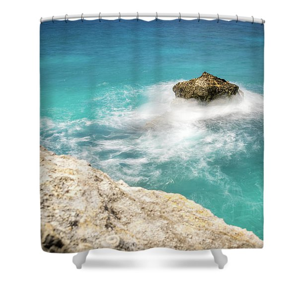 Cliff Views In Negril Shower Curtain