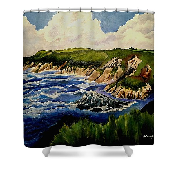 Cliffs And Sea Shower Curtain