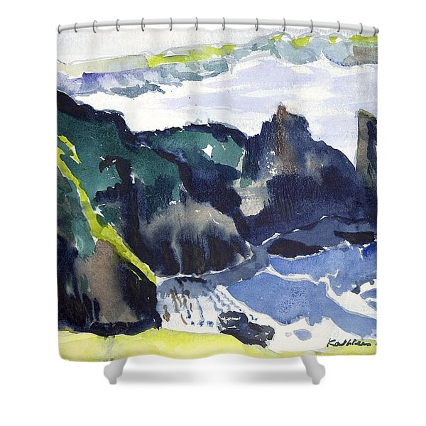 Cliffs In The Sea Shower Curtain