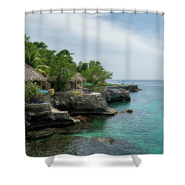 The Cliffs Of Negril Shower Curtain