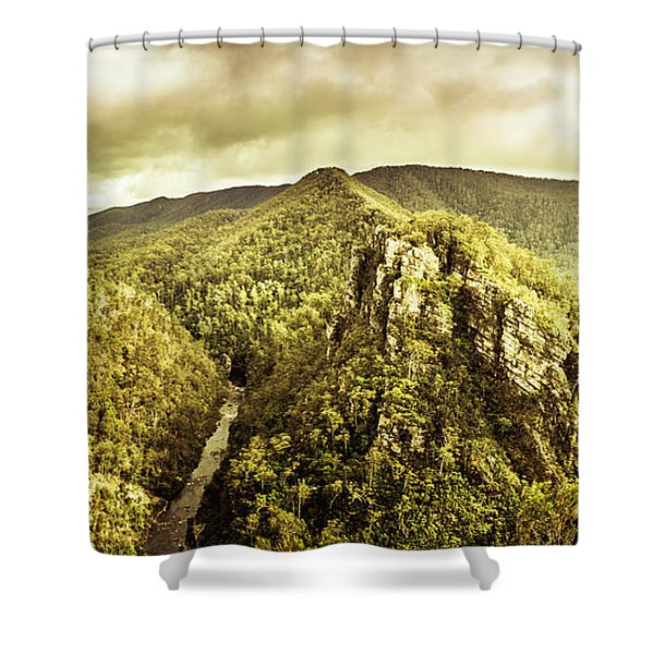 Cliffs, Steams And Valleys Shower Curtain