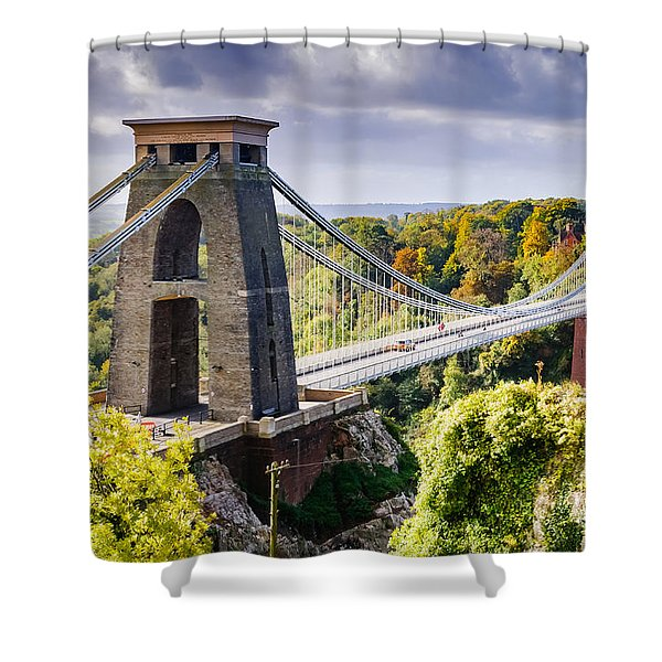 Clifton Suspension Bridge Shower Curtain