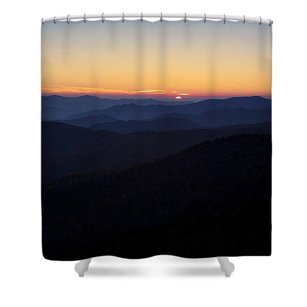 Clingmans Dome Sunset Shower Curtain