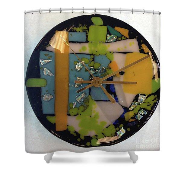 Clock Shower Curtain